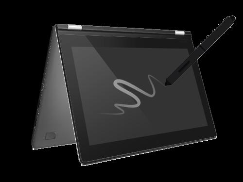 Mit Touchscreen und Stift